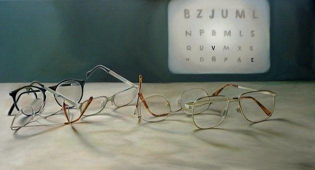 老眼鏡で 視力回復