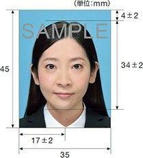 パスポート写真サイズ