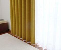 風水,寝室,カーテン